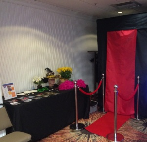 Moonstruck Photo Booth an Prop Table
